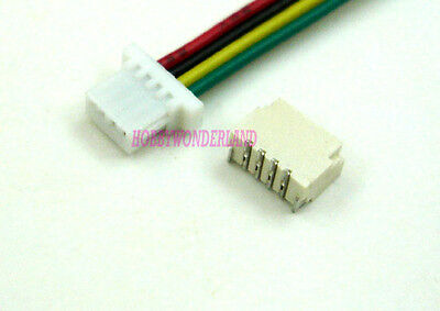 150 SET 1.0mm JST-SH 4-Pin Connector Housing with 10cm cable & Top Entry Header