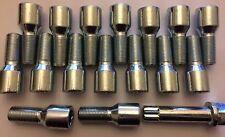 20 x sintonizzatore m14x1.25 lungo 50mm + Chiave Thread Cerchi in Lega Bulloni Si Adatta BMW vedi elenco