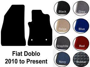 Fiat Doblo Estate 2010 On Black Tailored Floor Car Mats Carpet //Rubber