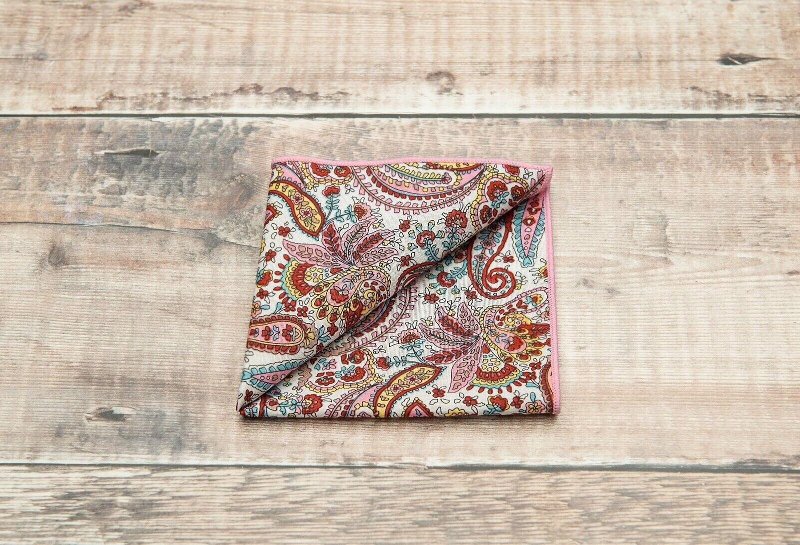 BRAND NEW Mens Paisley Print Pocket Square RRP NOW *** ***