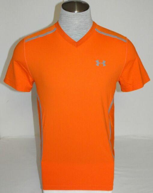 Están familiarizados A veces a veces profundamente  Under Armour Vent Moisture Wicking Orange Short Sleeve Athletic ...