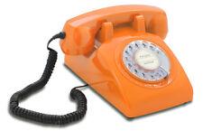 Opis 60s cable mit Deutsche-Post-Einleger: Retrotelefon mit Wählscheibe orange