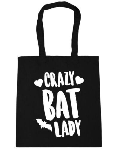 10 litres Crazy bat lady Tote Shopping Gym Beach Bag 42cm x38cm