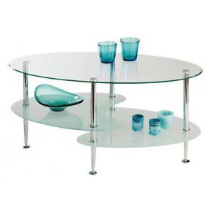 Tavolino Salotto Cristallo.Dettagli Su Tavolino Salotto Vetro Piano Cristallo Temperato Colore Trasparente