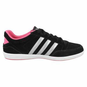 Detalles de Mujer Adidas Hoops Vl con AW5372 Cordones Zapatillas para Deporte