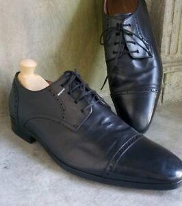 Kurt Geiger men's black leather cap toe