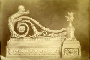Courageux France Paris Sculpture Piece Of Art Old Photo 1890