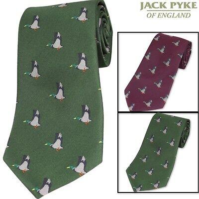 JACK PYKE PHEASANT TIE MENS SUIT TIE GIFT SHOOTING HUNTING CLAY PIGEON RIFLE