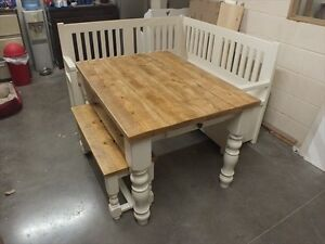 Details about COUNTRY MANOR 4FT X 3FT RECLAIMED PAINTED DINING KITCHEN  TABLE HANDMADE IVORY