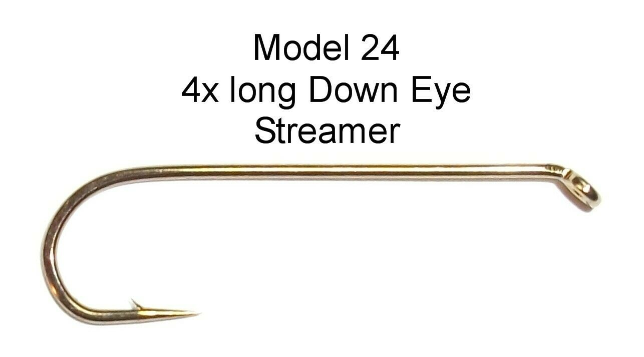 25 Pcs your choice of Nymph Wet Streamer; scarce vintage Sproat Mustad fly hooks