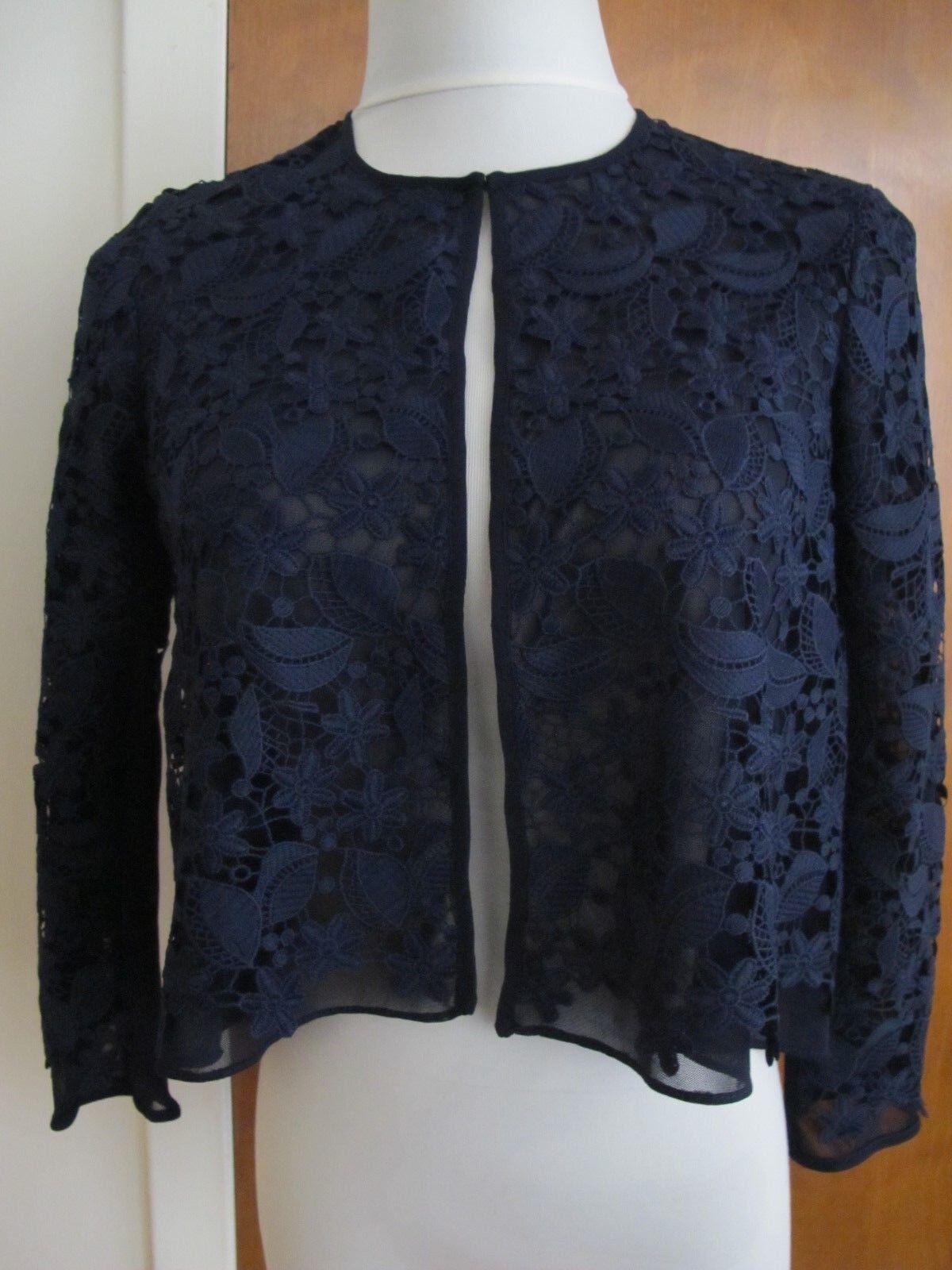 Ralph Lauren damen navy lined cardigan Größe 4 NWT