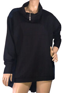 VALE-AND-WARD-BLACK-AND-NAVY-TUNIC-TOP-ONE-SIZE-FITS-ALL-LIKE-NEW