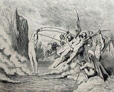 Démons et Barattiers Dante Alighieri - Enfer Gravure Gustave Doré 1861