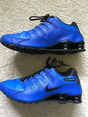 Nike Shox Shocks NZ Mens Size 14 Hyper Cobalt Blue Black Athletic Shoes |  eBay