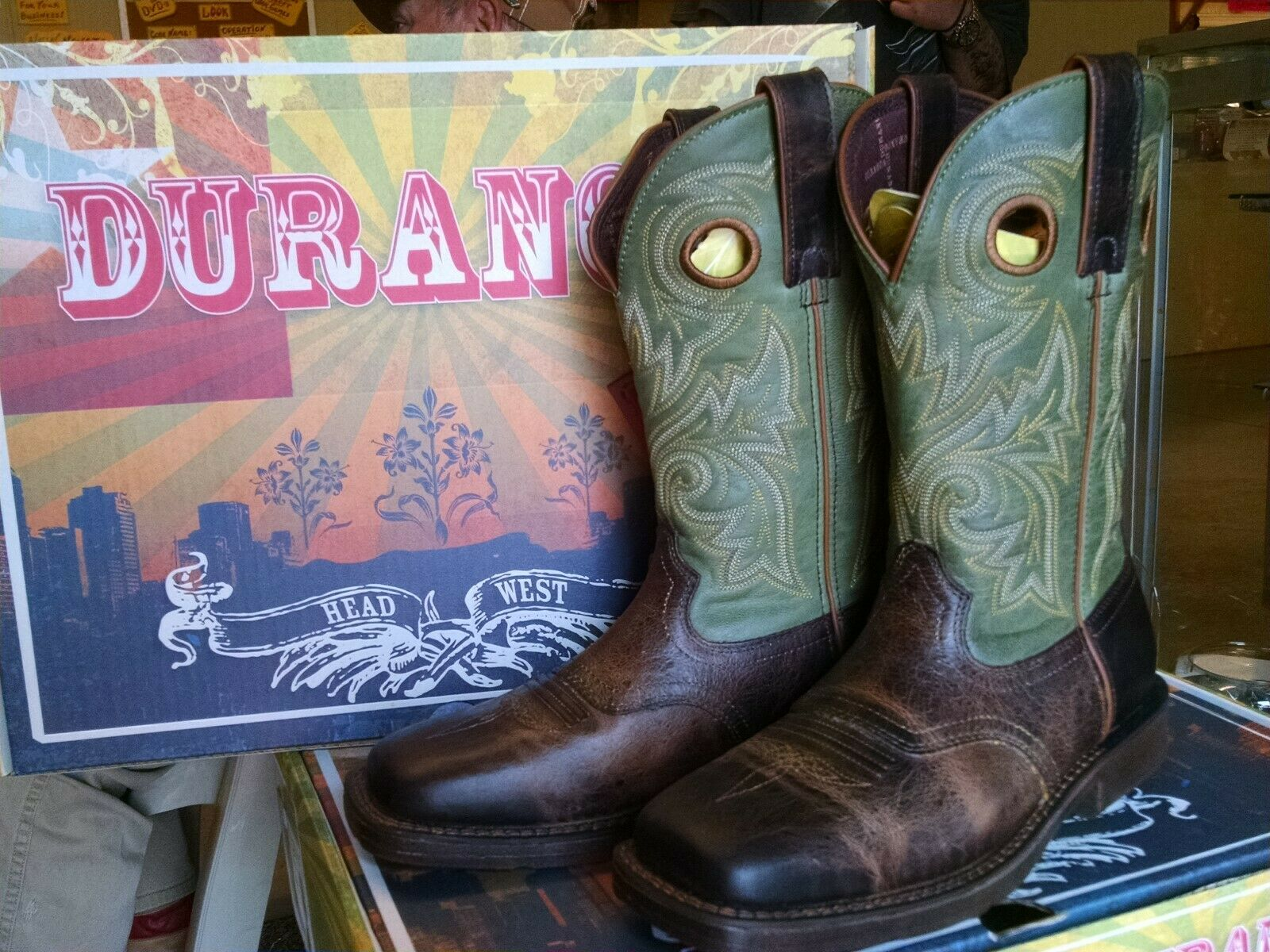 Durango DDB0055 Men's 12  Rebel Pull-On Boots Sz 10M FREE SHIPPING--USA