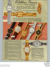 1960 PAPER AD 6 PG Waltham Wrist Watch 35 Jewel Rototron Northampton Skindiver