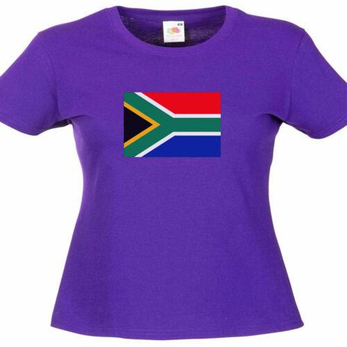 Afrique du Sud drapeau Femme Lady Fit T Shirt