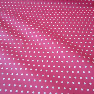 Softshell pink // weiß Stoffperle Punkte // Dots