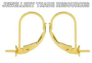 9ct Yellow Gold Safety Pin for Brooch Safety Chain-Jewellery Making Findings 375