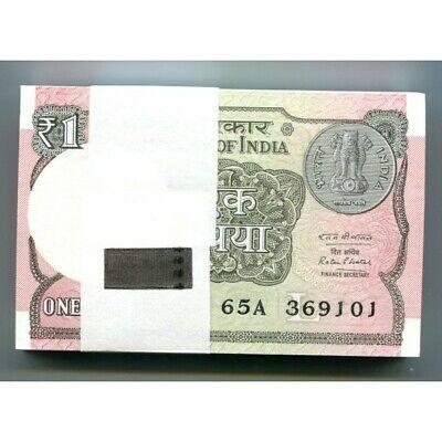 India 1 Rupee P-New Lot 5 PCS 2015-2017 UNC