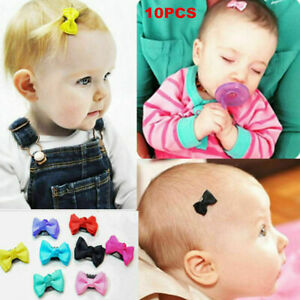 Lot-10Pcs-set-Kids-Baby-Girl-039-s-Bow-Ribbon-Hair-Bow-Mini-Clips-Hair-Clip-Hairpins
