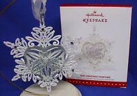 Hallmark Ornament Our Christmas Together 2015 Glass Heart Metal Snowflake Love