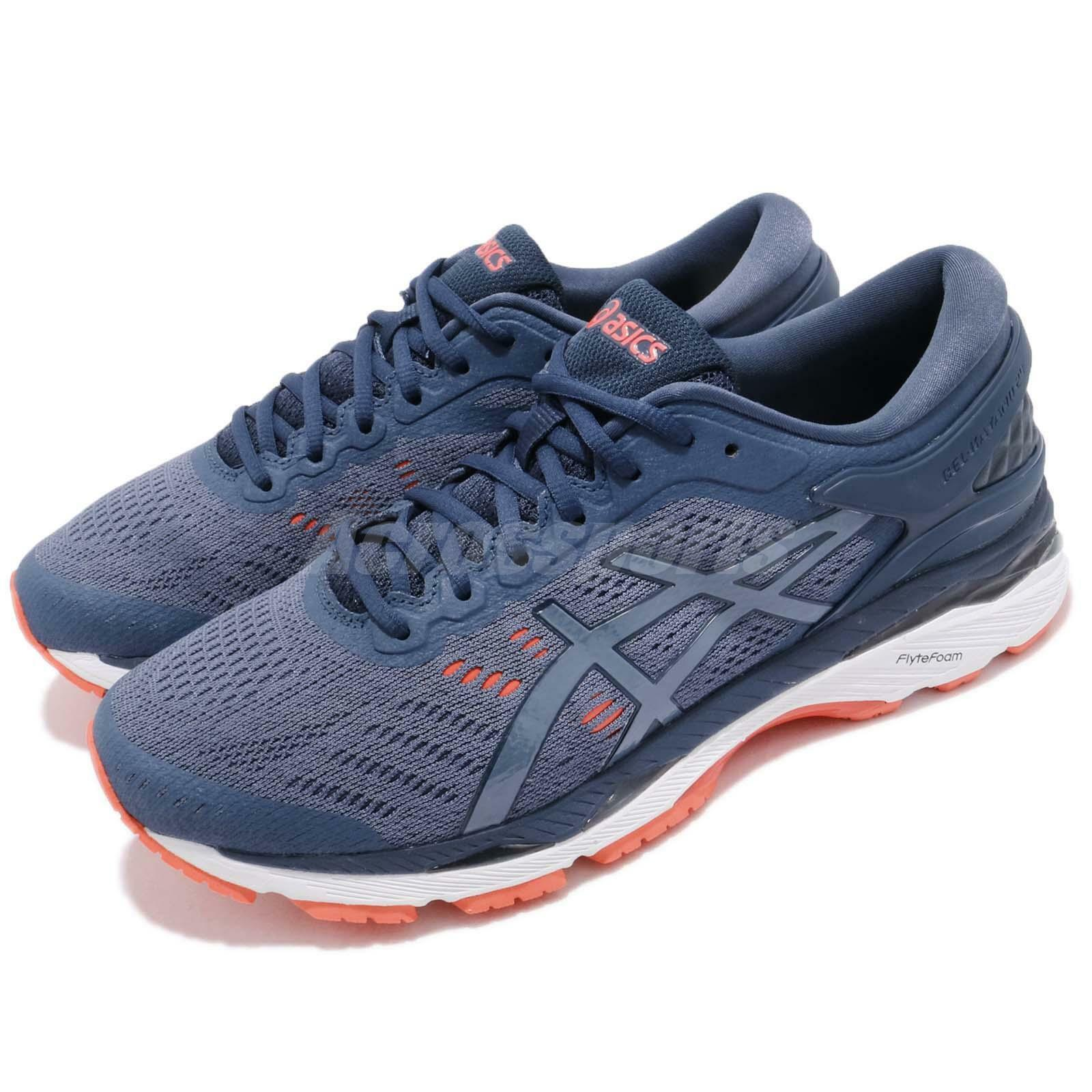 Asics Gel-Kayano 24 2E Wide Smoke blueee White Men Running shoes Sneaker T7A0N-5656