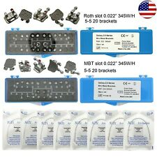New Listingusa Dental Orthodontic Metal Bracket Thermal Activated Archwire Kit Roth Mbt 022