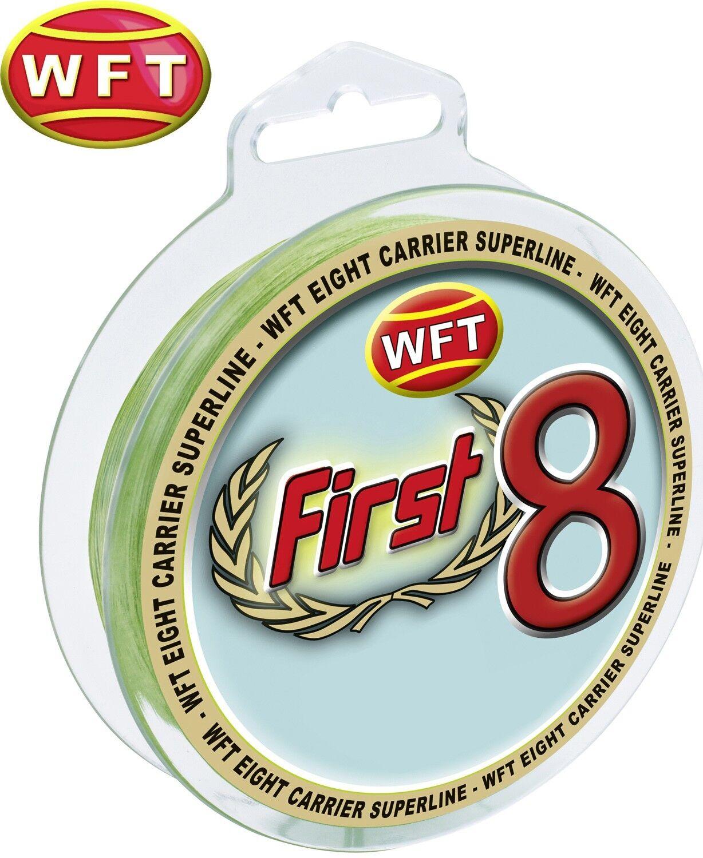 (  1m) WFT First 8 KG Line 150m 0,18mm 17kg mint-Grün, geflochtene Schnur  | Wonderful