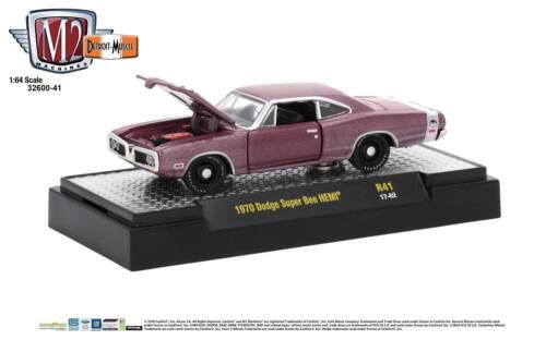 1:64 M2 Machines Detriot Muscle R41 = Burgandy 1970 Dodge Super Bee HEMI *NIB*