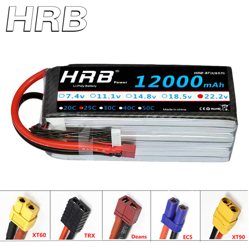 HRB 22.2V  12000mAh 6S LiPo Battery 25C 50C for FPV DJI Drone Airplane Helicopter  caldo