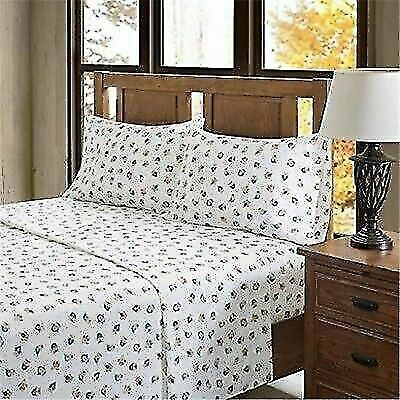 True North By Sleep Philosophy Owl Flannel Sheet Set Queen Size For Sale Online Ebay