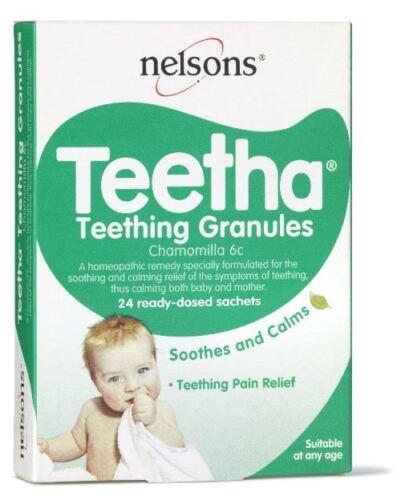6 x Nelson teething granules 24 sachets