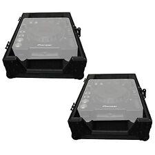 ProX XS-CD Large Format Tabletop CD/CDJ Player Flight Case Pair - Black