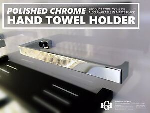 Modern Polished Chrome Square Solid Brass Hand Towel Holder Bathroom