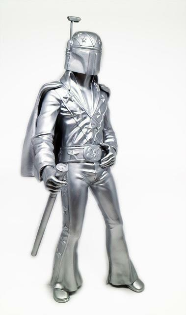 30 minutos Tipo Fett plata Edition diseñador Figura de Vinilo por Retro Outlaw & 3dretro