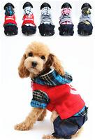 Small Pet Dog Puppy Cat Lamb Fur Clothes Winter Warm Coat Hoodie With Pants