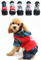 Small Pet Dog Puppy Cat Lamb Fur Clothes Winter Warm Coat Hoodie With Pants
