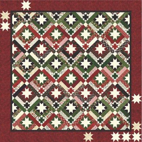Quilt Pattern BOXES /& BOWS Moda BASIC GREY  Christmas  KRINGLE CLAUS