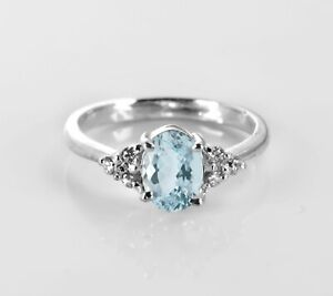 925-Sterling-Silver-Ring-Blue-Aquamarine-Natural-Gemstone-Size-4-11