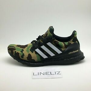new style 35b98 67d01 Image is loading adidas-x-BAPE-Ultra-Boost-4-0-Green-