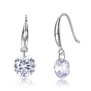a17c26d51 Image is loading Swarovski-Element-Crystal-Brilliance-Bella-Mini-Earrings -Rhodium-