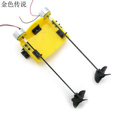 F17929 DIY Handmade Accessories Boat Ship Kit Electric Two Motor Propeller Power