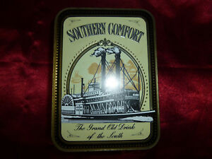 Vintage-Southern-Comfort-Hudson-Scott-amp-Sons-Advertising-Tin-Storage-container