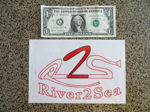 Large River 2 Sea Fishing Sticker 8 x 5 1//4  inches