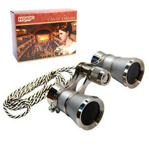 3x25-Theater-Binocular-w-Crystal-Clear-Optic-Platinum-Pearl-with-Silver-Chain