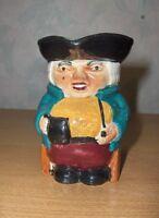 Antique Vintage Shorter & Son Mini Pitcher Colonial Man Figurine Toby England