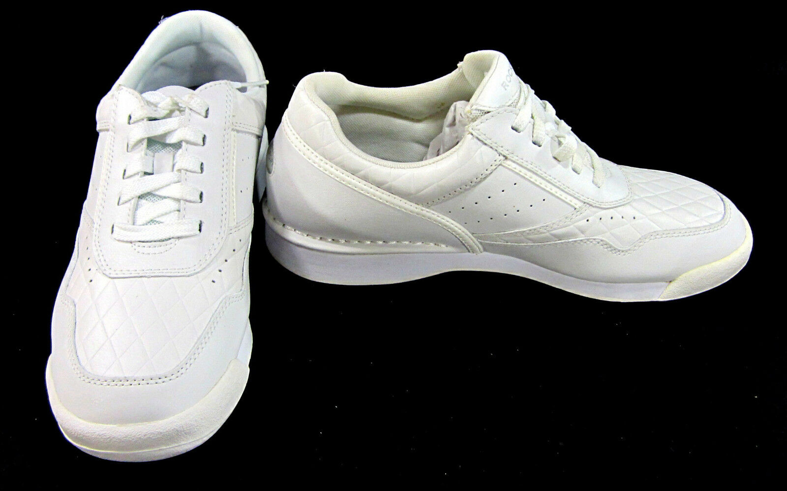 Rockport Shoes Athletic Lo Perforated Leather New White Sneakers Size 9.5 Scarpe classiche da uomo