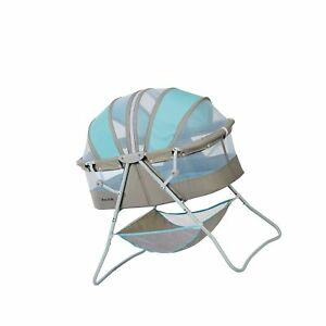 Details about Dream On Me Karley Bassinet, Blue/Grey Blue and Grey Free  Shipping