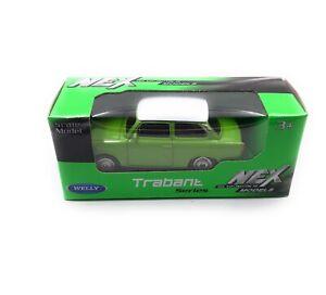 Trabi-Trabant-Rda-Vehicule-Vert-Emballage-D-039-Origine-Modele-Auto-Masstab-1-60
